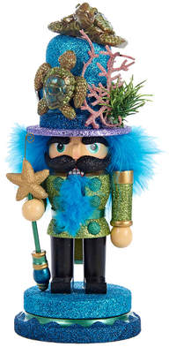 Kurt Adler 11In Hollywd Nutcracker With Sea Turtle Hat