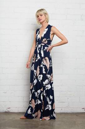 Rachel Pally Long Sleeveless Caftan - Navy Calla Print