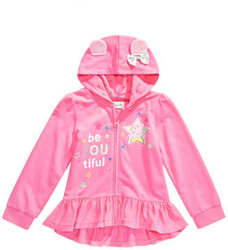 Peppa Pig Toddler Girls Peplum Full-Zip Hoodie