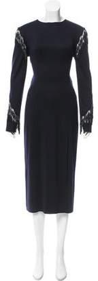 Baja East Wool Fringed Dress w/ Tags