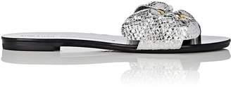 Stella Luna Women's Demi-Bow Leather Slide Sandals