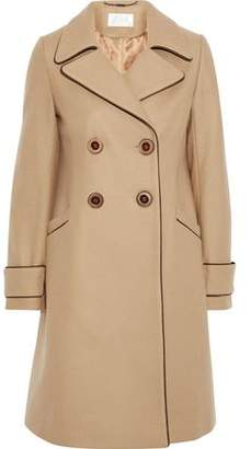 Goat Double-breasted Wool-blend Coat
