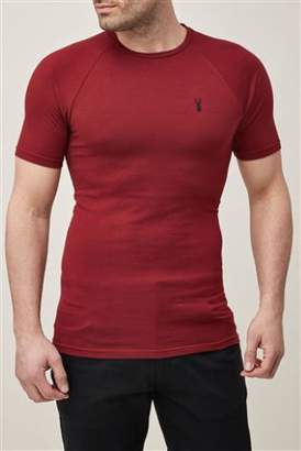 Next Mens Navy Muscle Fit T-Shirt