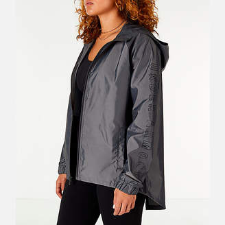 Under Armour Women's Iridescent Woven Hooded Wind Jacket