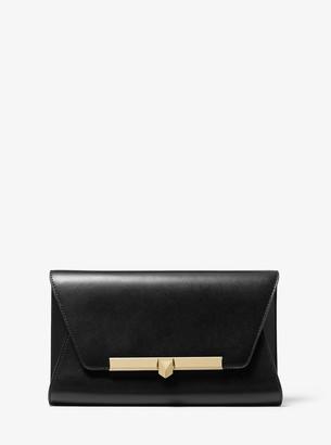 MICHAEL Michael Kors Bekah Large Leather Envelope Clutch
