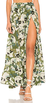 Free People Hot Tropics Maxi Skirt in Green $128 thestylecure.com