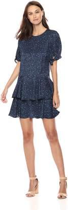 Rebecca Taylor Women's Short Sleeve DOT Dress