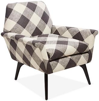 Kim Salmela Rowan Accent Chair - Black Plaid