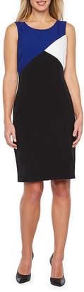 Evan Picone BLACK LABEL BY EVAN-PICONE Black Label by Evan-Picone Sleeveless Sheath Dress