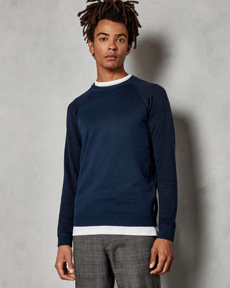 Ted Baker CORNFED Space dye crew neck sweater