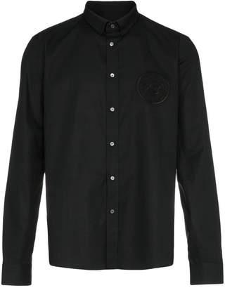 Balmain logo embroidered cotton long sleeve shirt