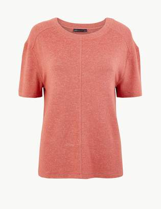 Marks and Spencer Marl Relaxed Fit Short Sleeve Top