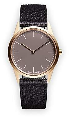 Uniform Wares C33 Swiss Quartz Stainless Steel and Black Leather Watch