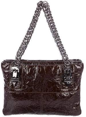 Thomas Wylde Patent Leather Chain-Link Shoulder Bag