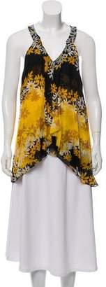 Diane von Furstenberg Sleeveless Silk-Blend Blouse