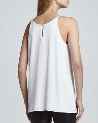 Milly Pleat-Front Long Tank