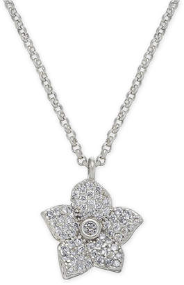 "Kate Spade Pave Bloom Pendant Necklace, 17"" + 3"" extender"