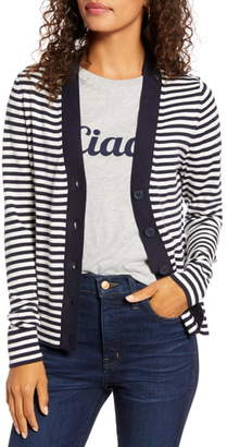 1901 Tipped Front Button Cardigan
