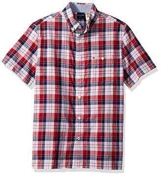 ef0e84f65 Tommy Hilfiger Men's Adaptive Magnetic Short Sleeve Button Shirt Slim Fit