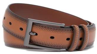Original Penguin Wing Tip Leather Belt