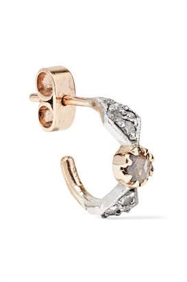 Pascale Monvoisin Adele N°1 9-karat Gold, Silver And Diamond Earring