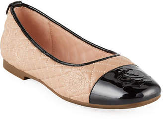 Taryn Rose Reese Rose-Quilted Leather Ballet Flats