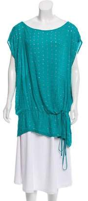 Robert Rodriguez Silk Oversize Embellished Top