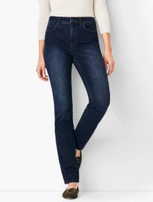 Talbots High-Rise Straight-Leg Jeans - Marco Wash