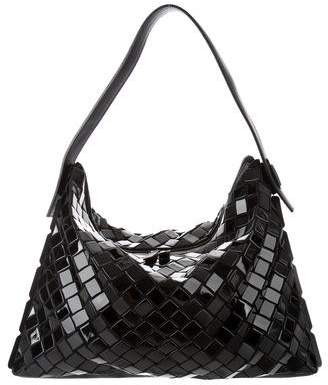 Pleats Please Issey Miyake Prism Leather-Trimmed Tote