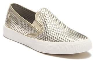 Sperry Seaside Embossed Metallic Leather Slip-On Sneaker
