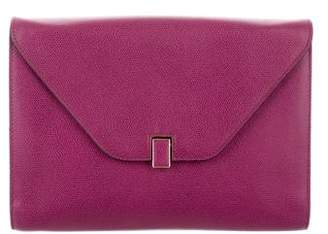 Valextra Leather Envelope Clutch