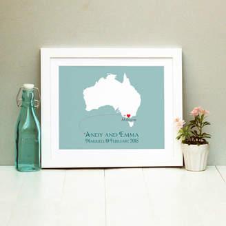 Brambler Wedding In Australia Personalised Print