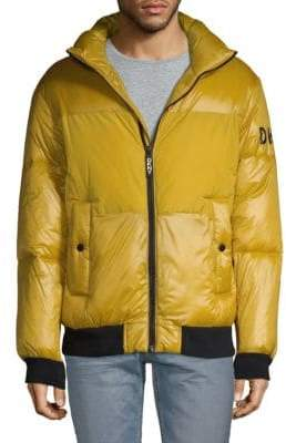 DKNY Contrast Puffer Jacket