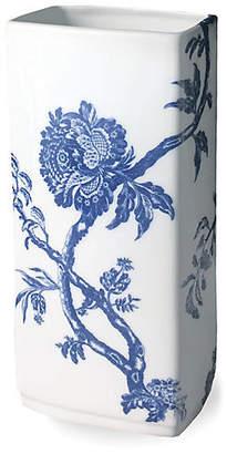 "Caskata 9"" Arcadia Rectangular Vase - White/Blue"
