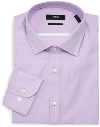 HUGO BOSS Jerris Slim-Fit Solid-Color Dress Shirt