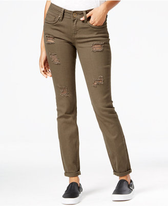Dollhouse Juniors' Ripped Colored Wash Skinny Jeans $49 thestylecure.com