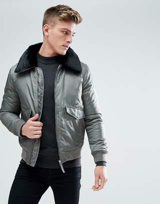 Burton Menswear Borg Collar Jacket In Grey