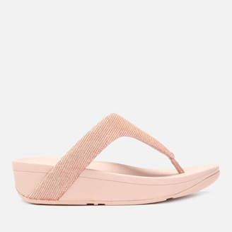 7c74d3b9b FitFlop Women's Lottie Glitzy Toe Post Sandals - Rose Gold