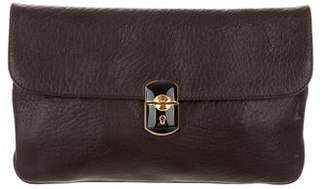 Balenciaga Leather Envelope Clutch