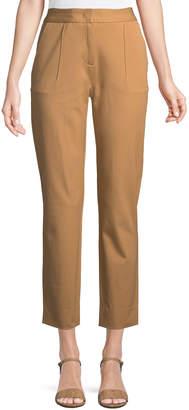 Donna Karan Front-Dart Twill Ankle Pants