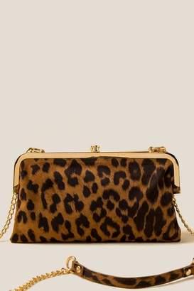 francesca's Brittani Snap Clutch In Leopard - Leopard