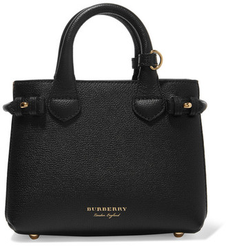 Burberry - Textured-leather And Checked Canvas Tote - Black $1,150 thestylecure.com