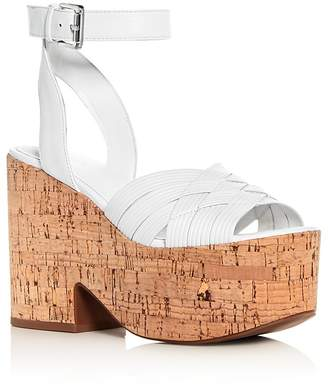 Sigerson Morrison Women's Becca Leather Platform Wedge Sandals