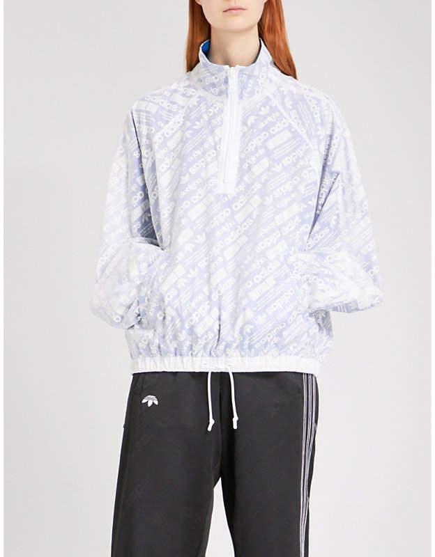 Adidas X Alexander Wang Ladies Logo-Print Sports Mesh Shell Coat
