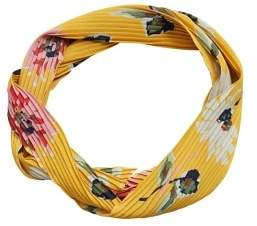 MANGO Flowered pleated scarf