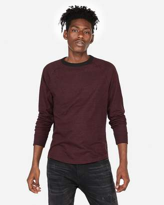 Express Exp Nyc Raglan Crew Neck Tee