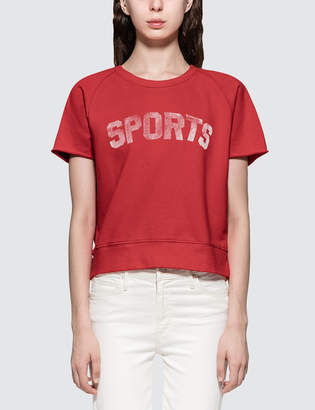 Mother Raw Sleeve Square S/S T-Shirt