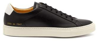 Common Projects Retro Achilles Low Top Leather Trainers - Mens - White Black