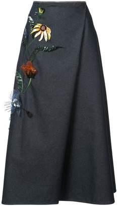 Carolina Herrera floral embellished skirt
