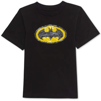 JEM Toddler Boys Batman Sequin Graphic T-Shirt